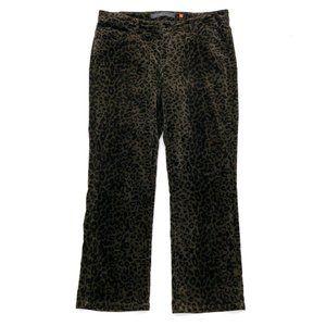 CHRISTOPHER BLUE Women's Leopard Print Pants 14
